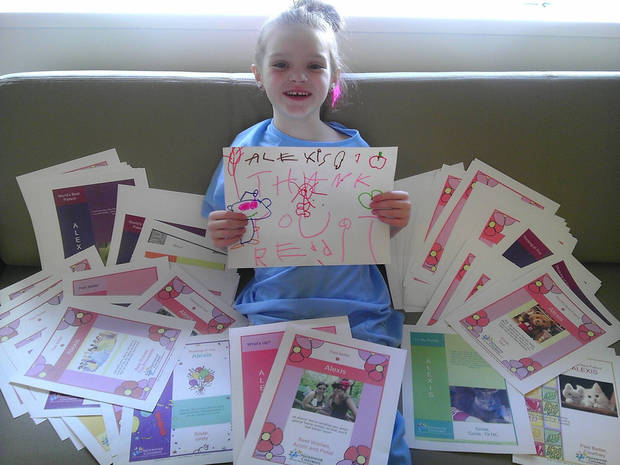 Alexis Blackburn gives thanks to the more than 130 redditors who sent her get well cards.
