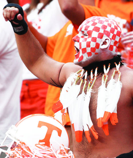A Tennessee football fan. AP Archive Photo