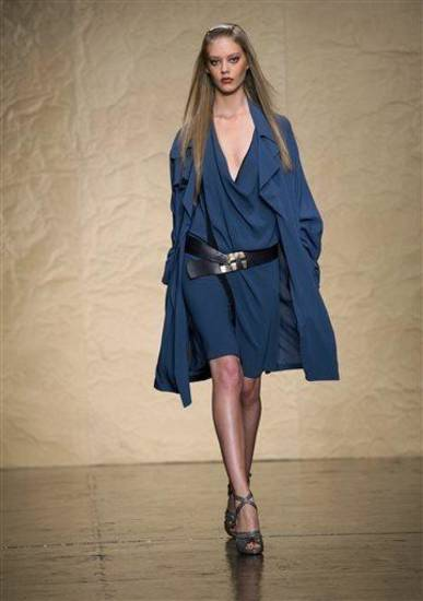 The Donna Karan Spring 2014 collection is modeled during Fashion Week in New York, Monday, Sept. 9, 2013. (AP Photo/Craig Ruttle)