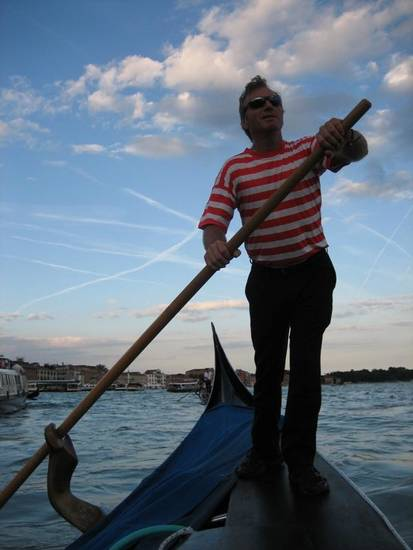 Our gondolier Roberto