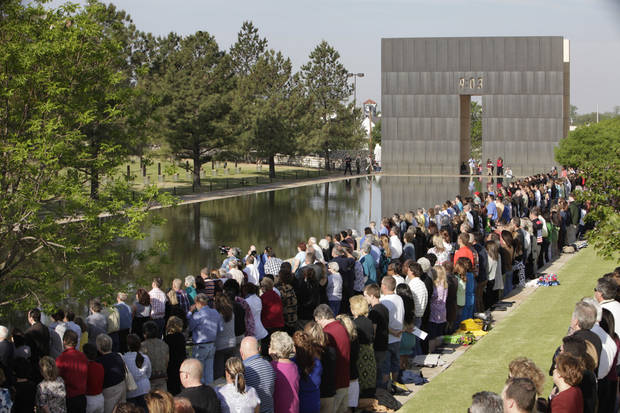 Partisapent at the Day of Remembrance Ceremony, Tuesday, April 19, 2011.  This was the 16th annual Oklahoma City Bombing Memorial ceremony.   Photo by David McDaniel, The Oklahoman