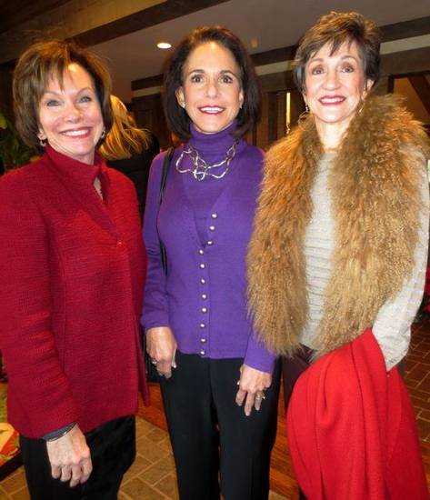Susan Sigmon, Susan Edwards and Gennie Johnson were at the holiday party. (Photo by Helen Ford Wallace).