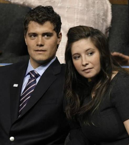Levi Johnston and Bristol Palin during the 2008 Rebublican National Convention (AP photo by Paul Sancya)
