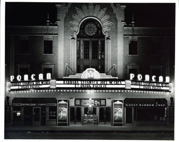 Built in 1927, the Ponca in downtown Ponca City was a movie theater like few others. It now is primarily a performance center for live acts.
