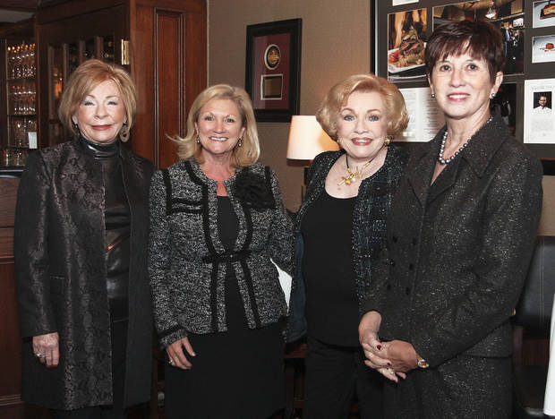 Joan Maguire, Oklahoma City Councilwoman Meg Salyer, Ann Alspaugh, Cathy Leichter.  PHOTOS BY DAVID FAYTINGER, FOR THE OKLAHOMAN