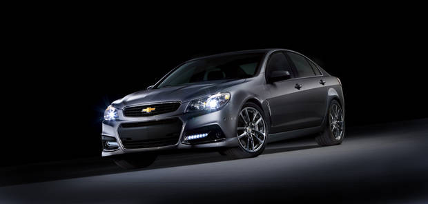 This undated photo provided by Chevrolet shows the 2014 Chevrolet SS performance sedan. It is the company's first rear wheel drive performance sedan in 17 years. The SS will also be Chevrolet�s racing car entry in the 2013 NASCAR Sprint Cup series. (AP Photo/Chevrolet)