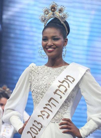 Yityish Titi Aynaw, Miss Israel 2013, emigrated to Israel from Ethiopia. Photo provided <strong></strong>