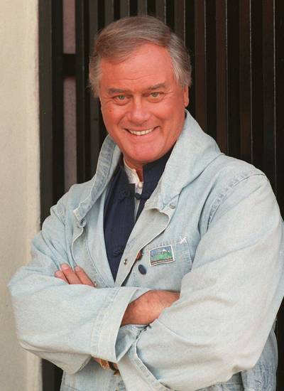 FILE-- Surgeons were replacing actor Larry Hagman's  deteriorating liver with a donor organ, a hospital spokesman said Wednesday, Aug. 23, 1995.  Hagman, shown in this 1989 file photo, went into surgery at about 10 p.m. Tuesday.  ``The surgery is still in progress and it looks as if it will be a  12-hour-long procedure,'' said Ron Wise, spokesman for Cedars-Sinai Medical  Center Wednesday morning. The 63-year-old actor's own liver was reportedly decaying from cancer and the effects of years of heavy drinking. (AP Photo/Alan Greth, File)