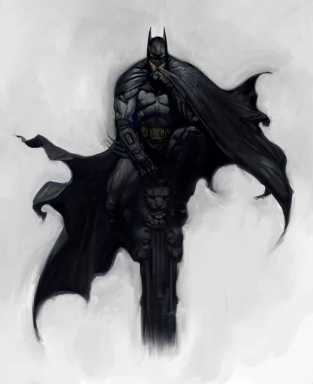"Concept art from ""Batman: Arkham City."""