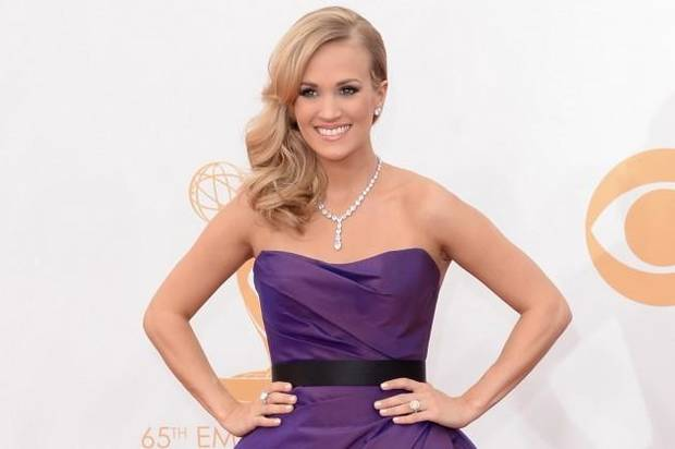 Oklahoma native Carrie Underwood on the red carpet at the Emmy Awards.