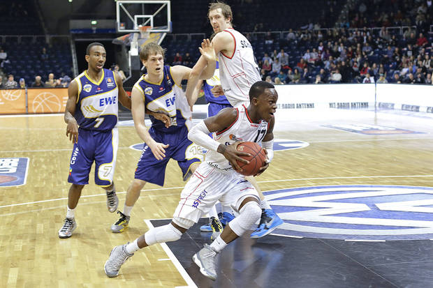 At 19 years old, many think the German point guard Dennis Schroeder, front, will go in the first round of the NBA Draft, maybe to Boston. Schroeder could also be in play for the Thunder at pick No. 12. 