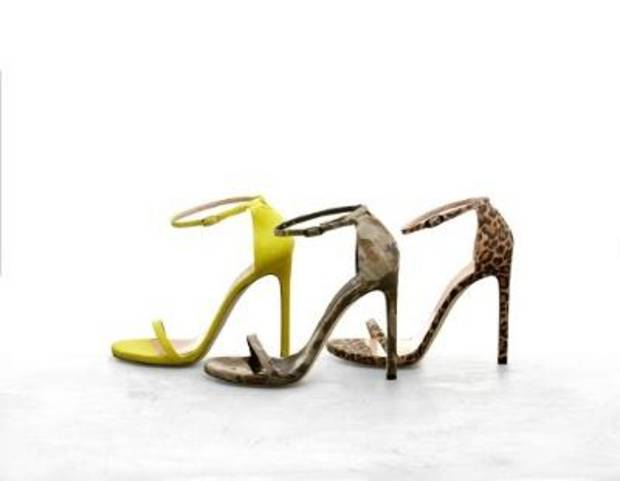 The Nudist sandal by Stuart Weitzman.