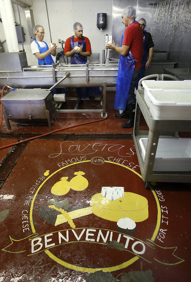 The cheese is made in a small building just outside of Lovera's Italian Market in Krebs, Oklahoma. <strong>Jim Beckel - THE OKLAHOMAN</strong>