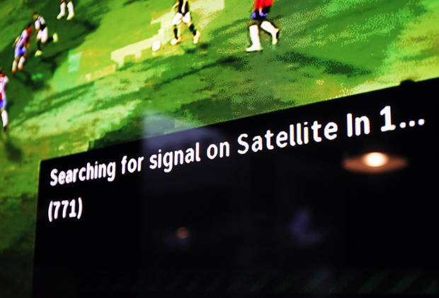 The satellite television feed at Skinny Slim's Public House for the game was interrupted by the storm on July 16, 2013.