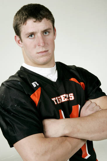 The Oklahoman All State high school football team for 2005. Mike Bryan, LB, Coweta (5A).  12/12/05  Doug Hoke /The Oklahoman