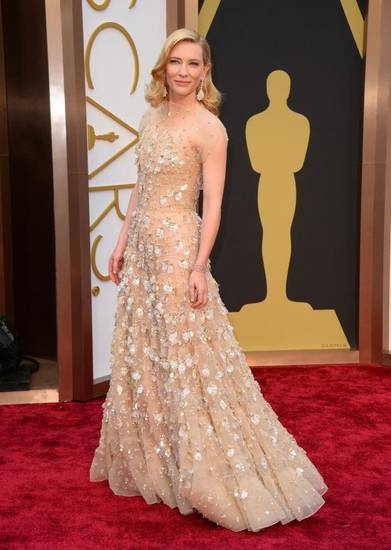Cate Blanchett looks as good as gold. (AP)