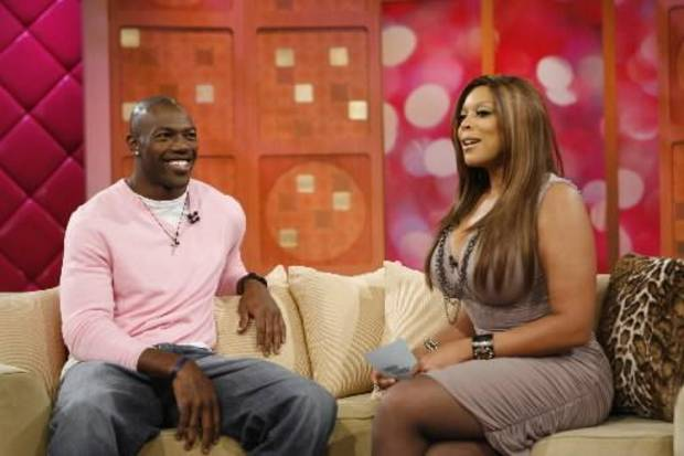 Wendy Williams interviews NFL player Terrell Owens on her late-night talk show (AP Photo by Anders Krusber)