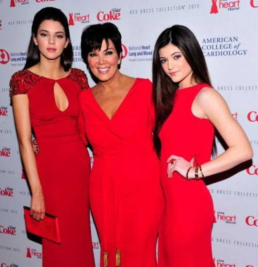 Kendall Jenner, left, Kris Jenner and Kylie Jenner attend the Red Dress Collection 2013 Fashion Show, on Wednesday, Feb. 6, 2013 in New York. (Photo by Charles Sykes/Invision/AP)   Read more: http://www.ctpost.com/news/medical/article/Braxton-Osbourne-and-Jenners-do-Red-Dress-runway-4257784.php#ixzz2KG86Kx8R