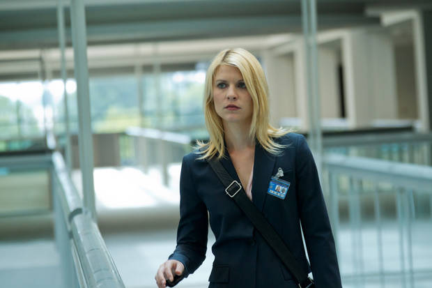 "In this image released by Showtime, Claire Danes portrays Carrie Mathison in a scene from the Showtime original series, "" Homeland."" Danes was nominated Thursday, Dec. 13, 2012 for a Golden Globe for best actress in a drama series for her role in � Homeland .�  The 70th annual Golden Globe Awards will be held on Jan. 13. (AP Photo/Showtime, Kent Smith)"