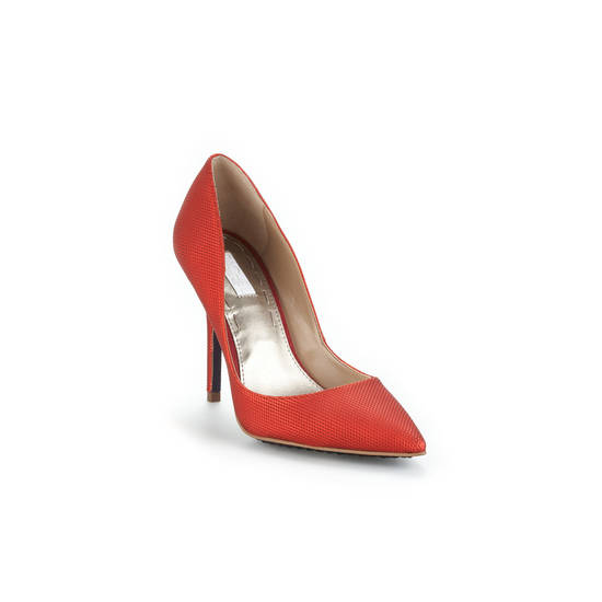 Finish your look similar to Emma Stone with the Rachel Roy Markaya heel for $99 from RachelRoy.com, and you're sure to turn some heads. (Courtesy Rachel Roy via Los Angeles Times/MCT)