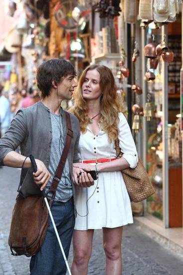 "COVERT AFFAIRS -- ""Half A World Away"" Episode 207 -- Pictured: (l-r) Christopher Gorham as Auggie Anderson, Rebecca Mader as Veronica -- Photo by: Ercan Arslan/USA Network"