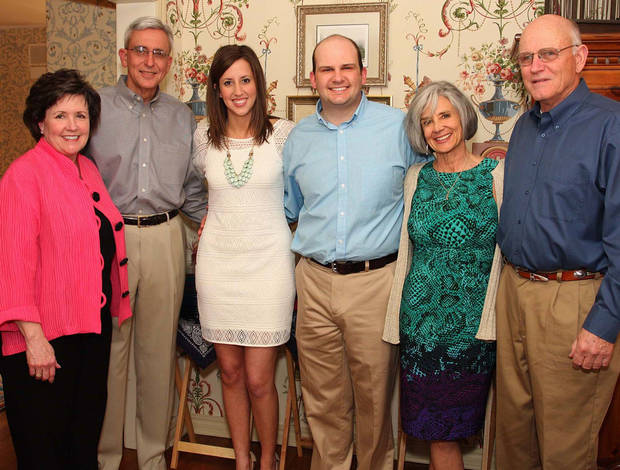 Georgeann, Bob, and Mary Dexter; Addison, Nancy, and Mike Johnston. Photo by David Faytinger for The Oklahoman__
