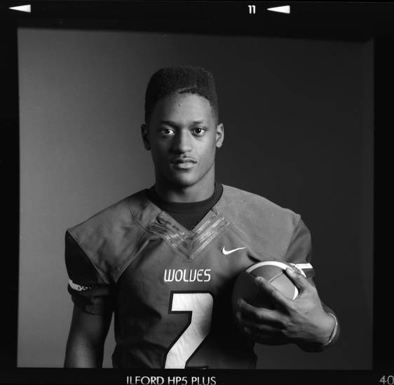 All-State high school football player Trevan Smith of Edmond Santa Fe poses for a photo in Oklahoma City, Monday, Dec. 17, 2012. Photo by Nate Billings, The Oklahoman
