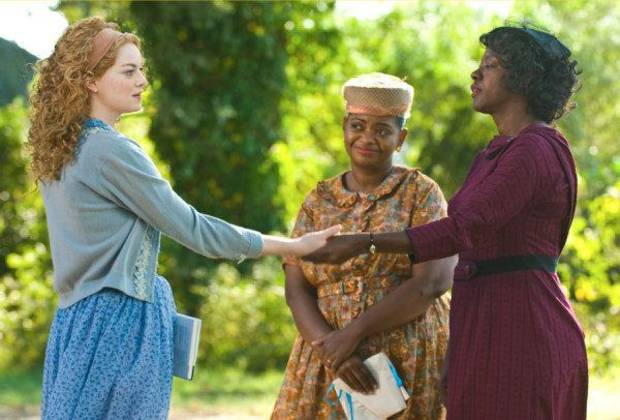 "Viola Davis right, stars in ""The Help"" with Emma Stone, left, and Octavia Spencer. Dreamworks photo <strong>Dale Robinette</strong>"