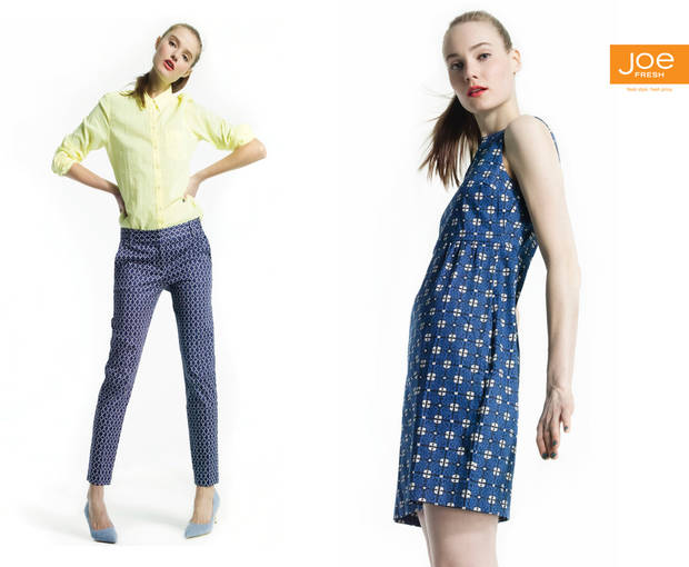 Joe Fresh is known for its colorful mix and match pieces.