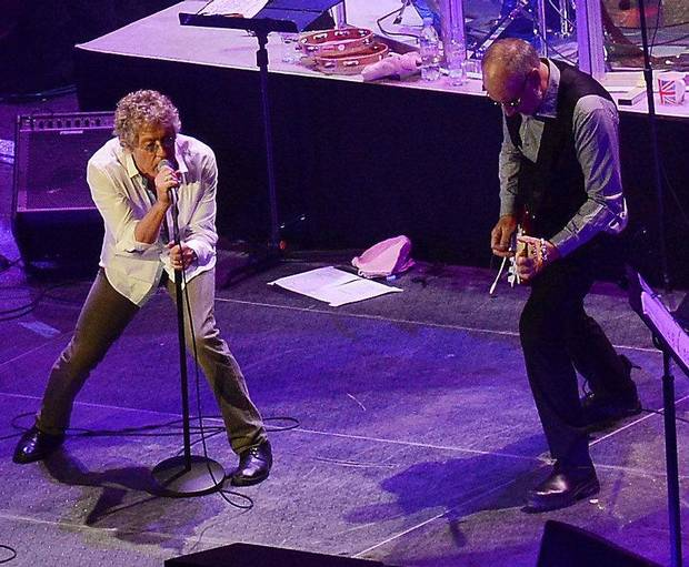"SUNRISE, FL - NOVEMBER 01:  The Who's Roger Daltrey and Pete Townshend perform during The Who ""Quadrophenia And More"" World Tour Opening Night at BB&T Center on November 1, 2012 in Sunrise, Florida.  (Photo by Rick Diamond/Getty Images for The Who) *** Local Caption *** Roger Daltrey; Pete Townshend"