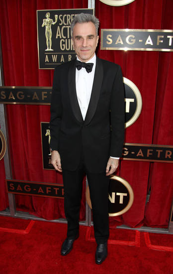 Actor Daniel Day-Lewis arrives at the 19th Annual Screen Actors Guild Awards at the Shrine Auditorium in Los Angeles on Sunday, Jan. 27, 2013. (Photo by Matt Sayles/Invision/AP)