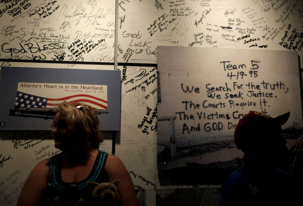 Visitors tour the Oklahoma City National Memorial & Museum. Photo by Bryan Terry, The Oklahoman archives