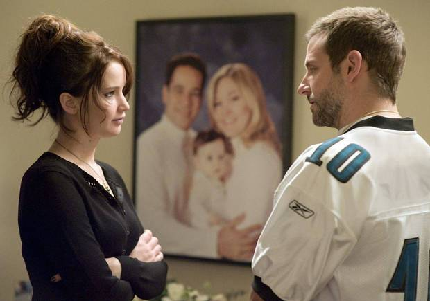 "Jennifer Lawrence and Bradley Cooper star in ""Silver Linings Playbook."" WEINSTEIN COMPANY PHOTO <strong>THE WEINSTEIN COMPANY</strong>"
