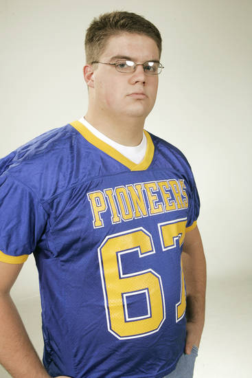 The Oklahoman All State high school football team for 2005. Jacob Seacrest, OL, Stillwater (6A).  12/12/05  Doug Hoke /The Oklahoman