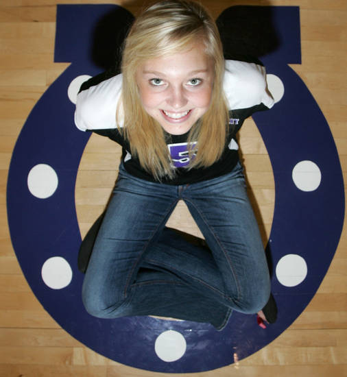 Bethany High School senior McKenzie Redwine in Bethany , Okla. September 16 , 2008.  BY STEVE GOOCH, THE  OKLAHOMAN