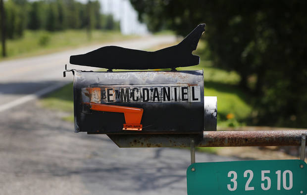 Ken McDaniel, a 78 year-old Air Force veteran, has a few hobbies including making metal replicas of military aircraft he, family or friends have flown. It started with a silhouette for his mailbox.  <strong>Jim Beckel - THE OKLAHOMAN</strong>