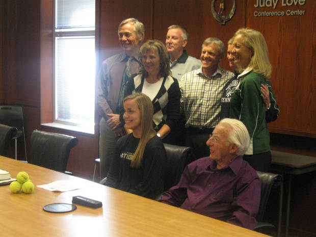 Bishop McGuinness senior Ashleigh Chiaf signs to play tennis for Missouri.
