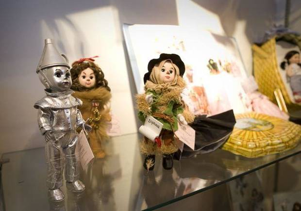 OSU RECEPTION....Madame Alexander dolls on exhibit. (Photo by Gary  Lawson, OSU).