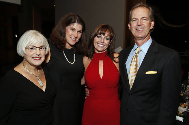 PAM BELL: Barbara Kahn, Nancy Sengel, and Pam and John Bell attend the Winter Gala at the Sam Noble Oklahoma Museum of Natural History on Thursday, Dec. 13, 2012, in Norman, Okla.  Photo by Steve Sisney, The Oklahoman