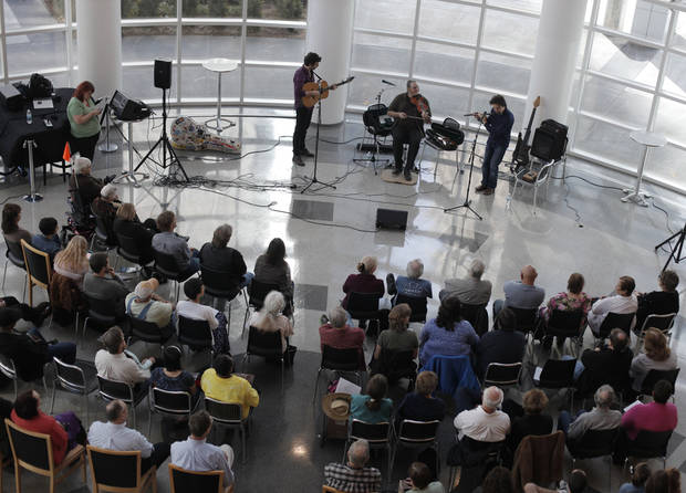 Canadian folk trio, Genticorum, performs at the Ronald J. Norick Downtown Library in Oklahoma City.  Photo by Garett Fisbeck, The Oklahoman <strong>GARETT FISBECK - GARETT FISBECK</strong>