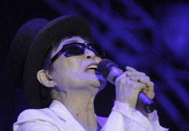 Yoko Ono and the Plastic Ono Band perform during the Flaming Lips New's Year's Freak Out at the Coca Cola Event Center in Oklahoma City, Saturday, Dec. 31, 2011. Photo by Garett Fisbeck, The Oklahoman Archive
