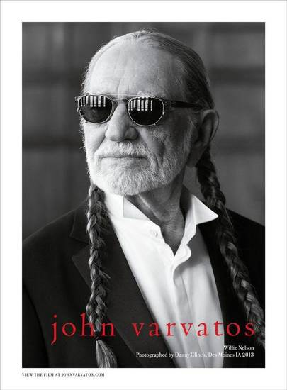 One of the images from the new John Varvatos campaign featuring singer Willie Nelson.