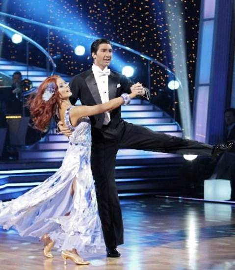 "Anna Trebunskaya and Anna Trebunskaya on ""Dancing with the Stars."" (AP photo by Adam Larkey)"