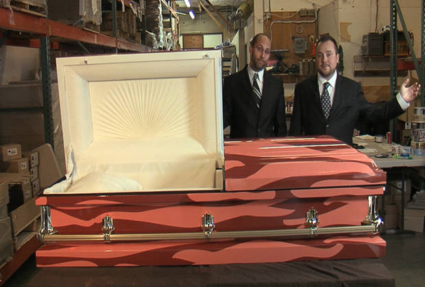 J&D�s Foods is pleased to announce the launch of Bacon Coffins. Yes, the world�s first bacon-wrapped casket. I think we all knew it would eventually end here. (J&D Foods/MCT)