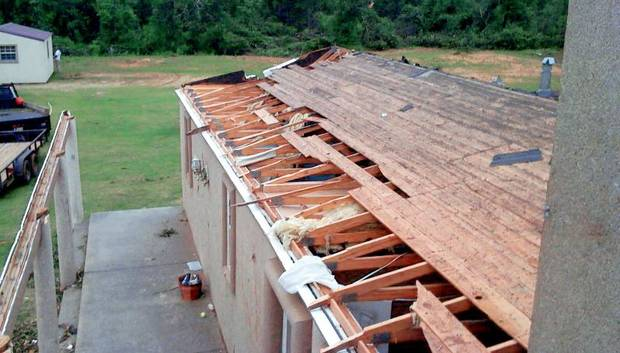 Harrah tennis player Sam Raglins house was destroyed by a tornado. PHOTO PROVIDED