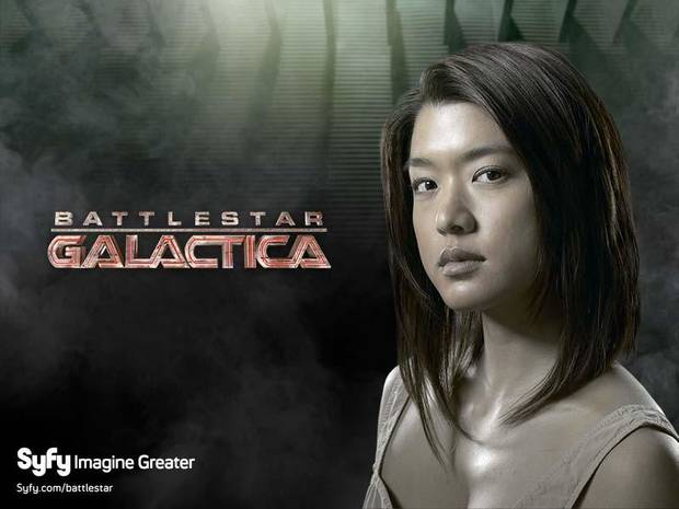 "Grace Park as Sharon in ""Battlestar Galactica."""