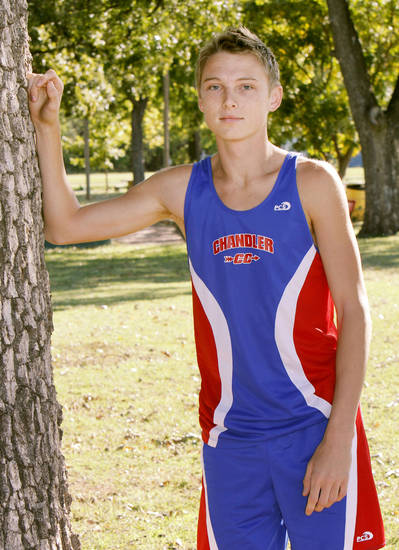 Chandler cross country runner Chris Lowery. Photo By Paul Hellstern, The Oklahoman Archives