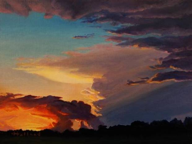 """Storm to the West"" by Oklahoma artist David J. Holland will be featured this weekend in the inaugural ""The Manly Show."""