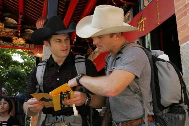 "From left, Oklahoma cowboys Jet and Cord McCoy are returning to ""The Amazing Race"" in February."