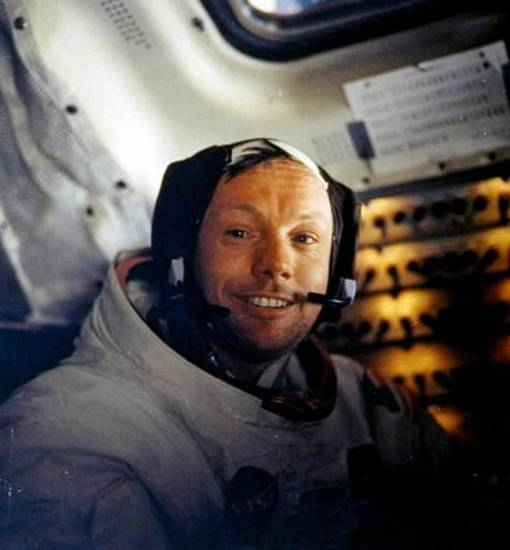This July 20, 1969 file photo provided by NASA shows Neil Armstrong.